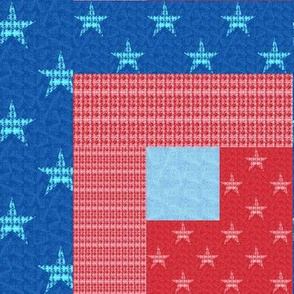 Stars and Stripes Box Cheater Quilt