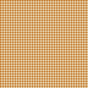 Quarter Inch Orange / Pumpkin Gingham