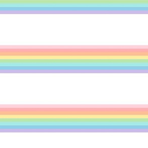 vintage rainbow stripes 2 // pastel