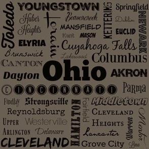 Ohio cities, taupe