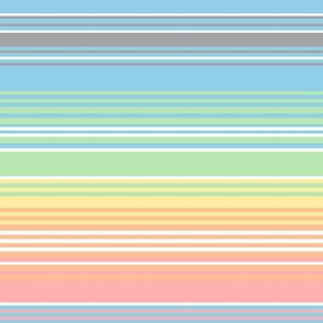 vintage rainbow stripes 3 // pastel