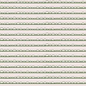 frilly stripe lily pad green/blush