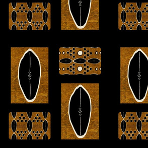 mud cloth-Into Africa Collage - black shale