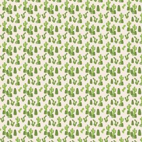 Cactus Pattern on Beige