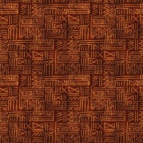 African Tribal Geometric in Earth Tones