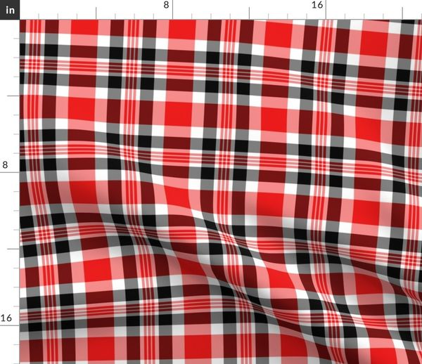 Hand Painted  Watercolor Check Cotton Sateen Sheet Set Bedding by Spoonflower Cestlaviv Weave Berry by vivsfabulousmess Plaid Sheets