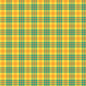Yellow and Teal Plaid