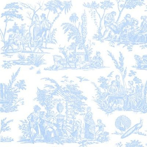 Marseilles Toile ~  Jasperware  Blue and White