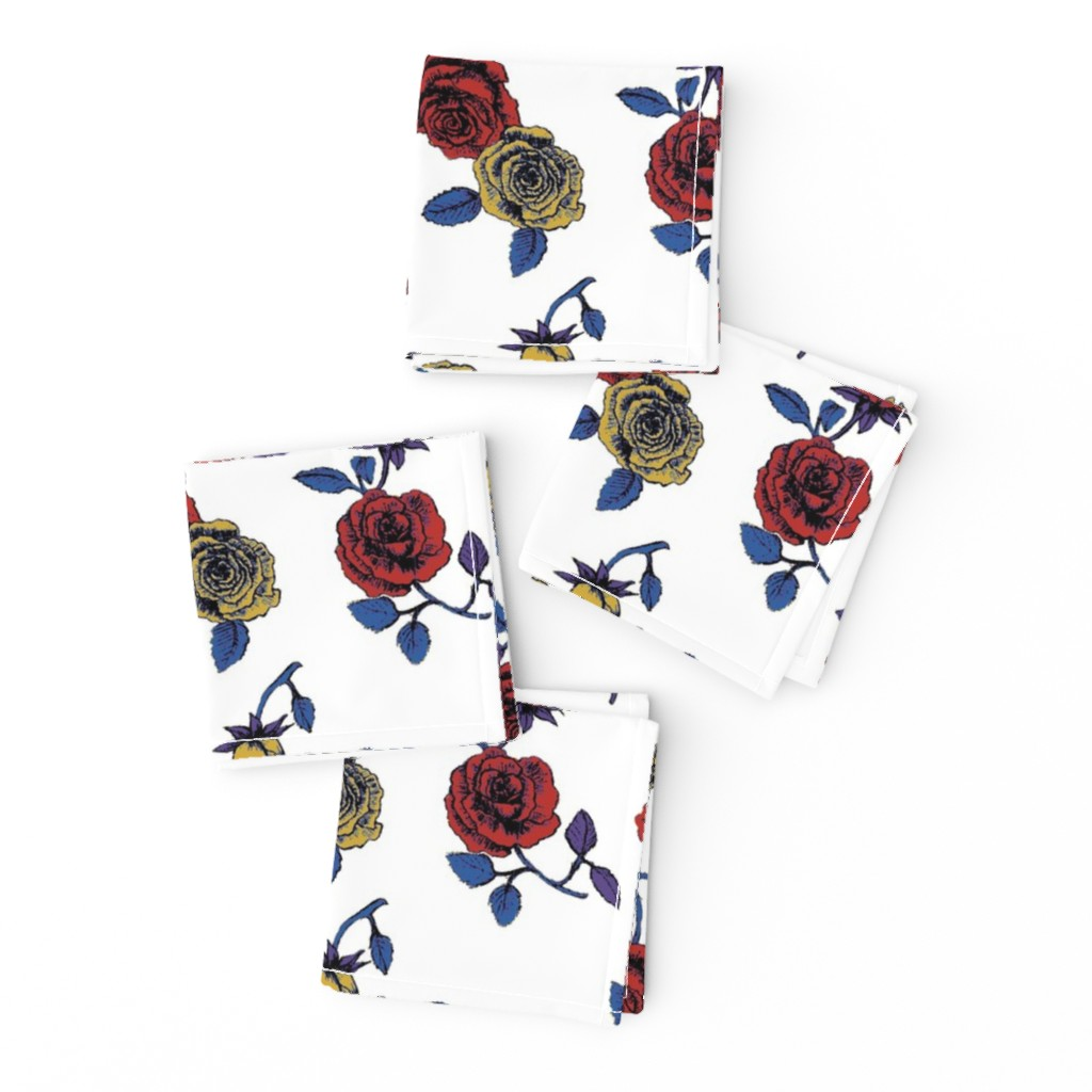 Frizzle Cocktail Napkins featuring Roses by susanna_nousiainen