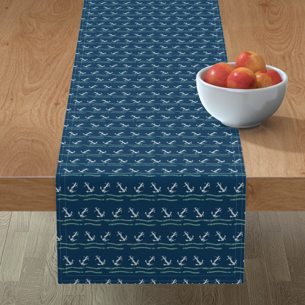 Minorca Table Runner featuring Nautical by susanna_nousiainen
