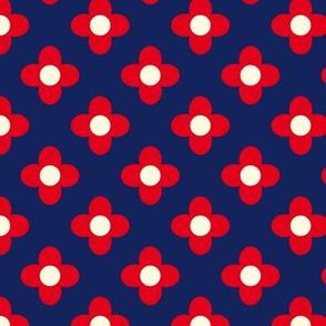 Retro Summerflower Red XSmall