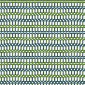 Golf Tee Pattern - blue & green