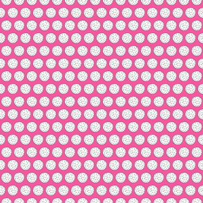 Hand Drawn Golf Balls on Pink