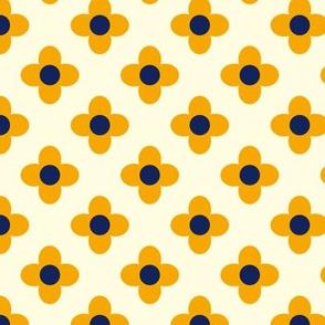 Retro Summerflower Orange Offwhite XSmall