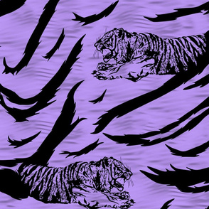 Tribal Tiger stripes print - psychic purple large