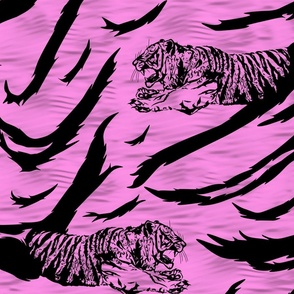 Tribal Tiger stripes print - bubblegum pink large
