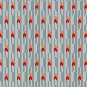 Minimalist Chevron in Brown // Geometric Arrow Crimson + Orange Subtle Stripes Abstract Spaceship Shape