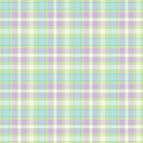Plaid in Mint Green, Purple, and Pastel Blue