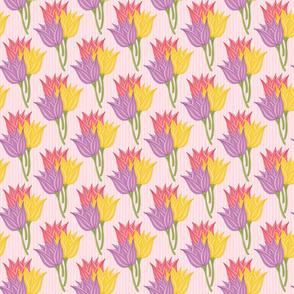 Tulip Bouquet Pattern on Pink
