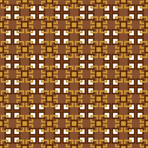 Gold and brown interlocking squares series