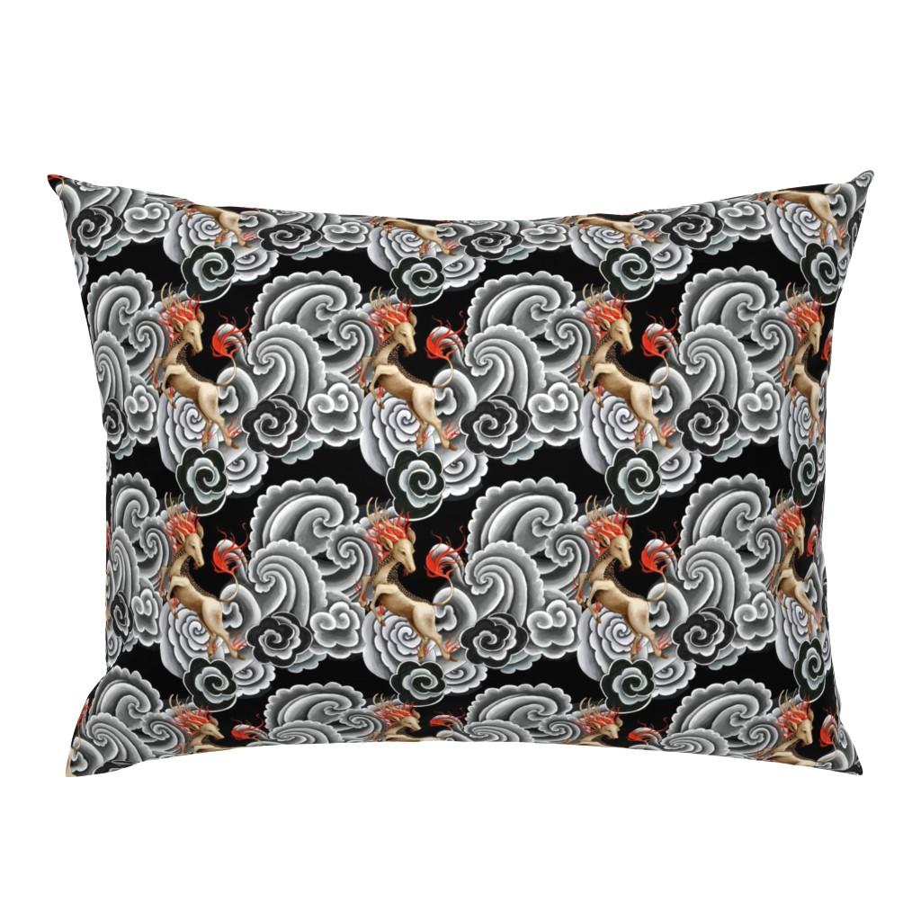 Campine Pillow Sham featuring Kirin Japanese tattoo by ghouk