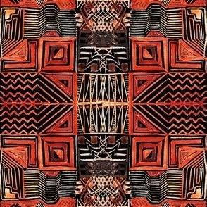 African Art Inspired. Dark version