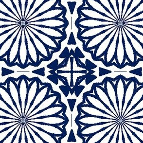 Boho Blue Willow Floral Repeat