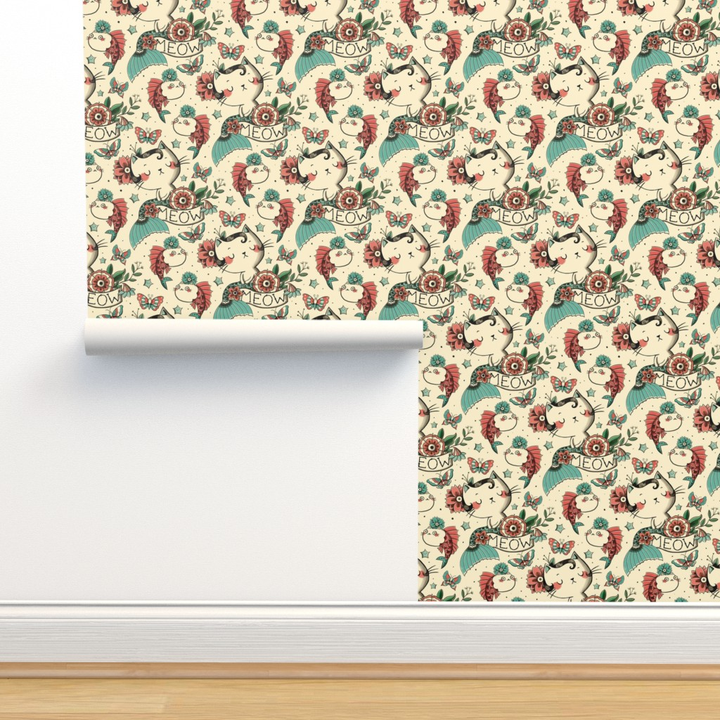 Isobar Durable Wallpaper featuring Born to Meow by monika_suska