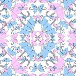 It's Raining Babies! It's A Boy! It's A Girl! Umbrellas Fabric New 2