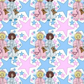 Baby Nicky It's A Girl! It's A Boy! Stars Fabric New