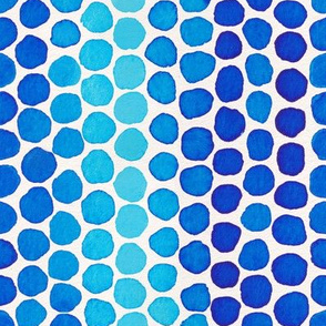 Indigo Watercolor Abstract Geometric Circles // Blue Ocean Dot Shapes