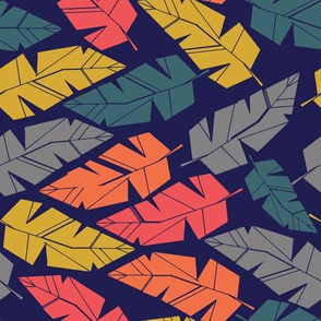 African block print feathers