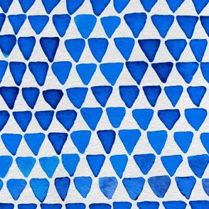 Indigo Watercolor Abstract Geometric Triangles // Blue Trees Tipis Teepees Feminine Strength Symbol