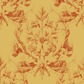 Faubourg ~ Floral Damask ~ Gavroche and Thernardier ~ Medium
