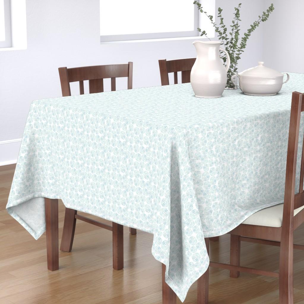 Bantam Rectangular Tablecloth featuring Water Bursts by taylor_bates_creative