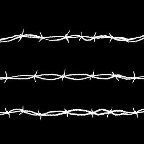 barbwire horizontal black
