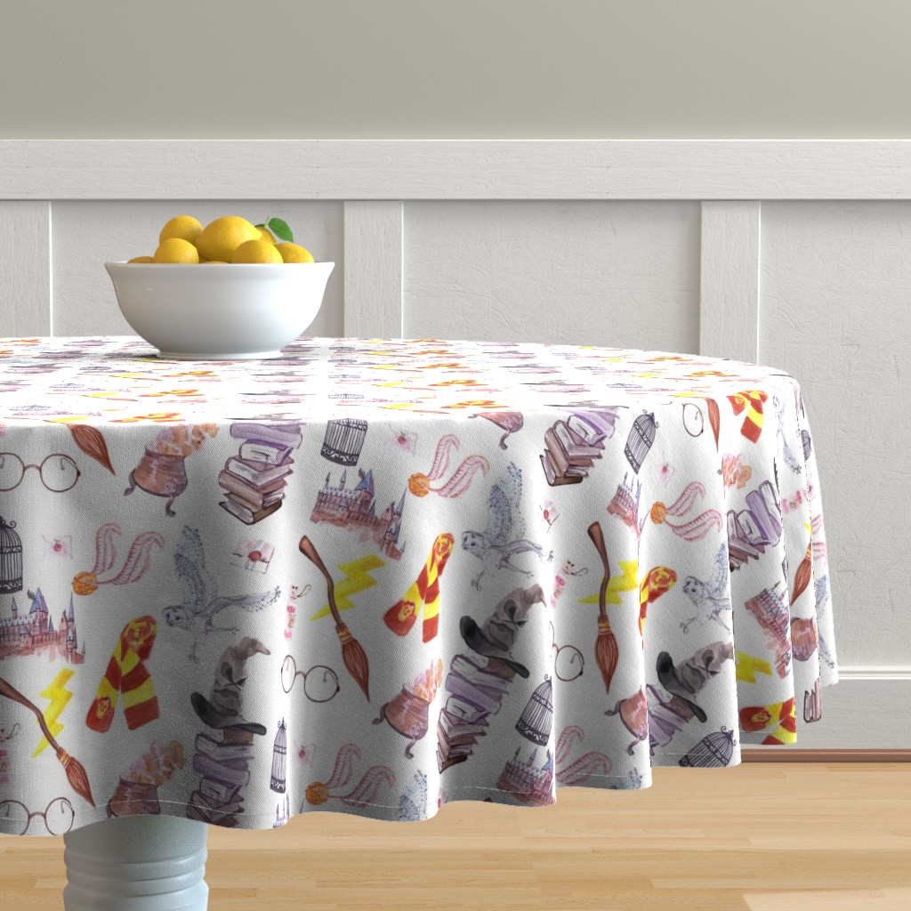 Malay Round Tablecloth featuring Wizard Symbols // Medium Scale by hipkiddesigns
