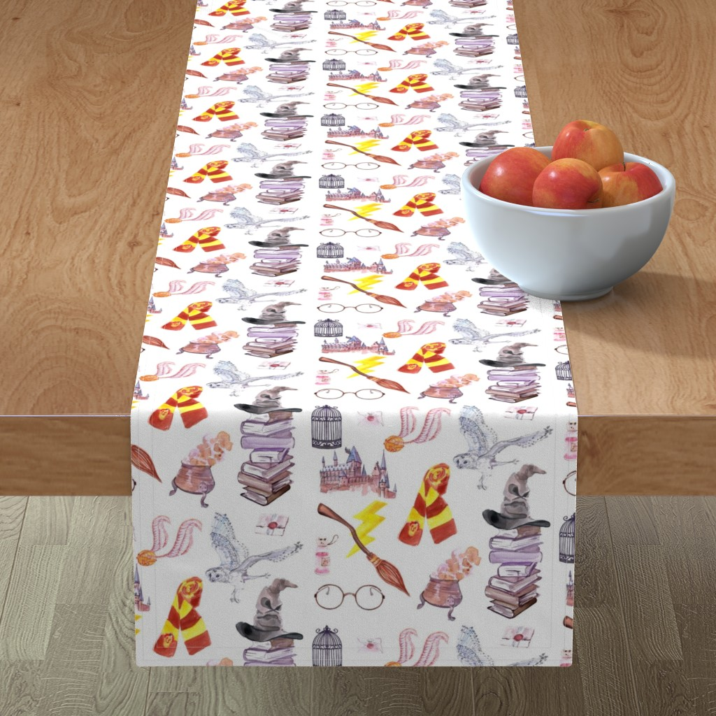 Minorca Table Runner featuring Wizard Symbols // Medium Scale by hipkiddesigns