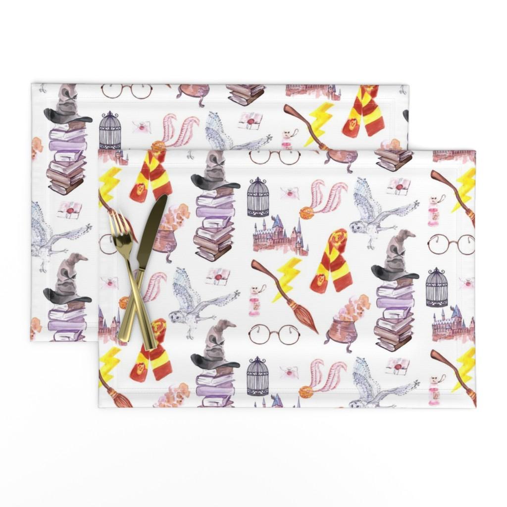Lamona Cloth Placemats featuring Wizard Symbols // Medium Scale by hipkiddesigns