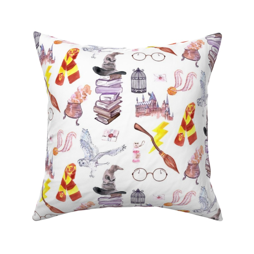 Catalan Throw Pillow featuring Wizard Symbols // Medium Scale by hipkiddesigns