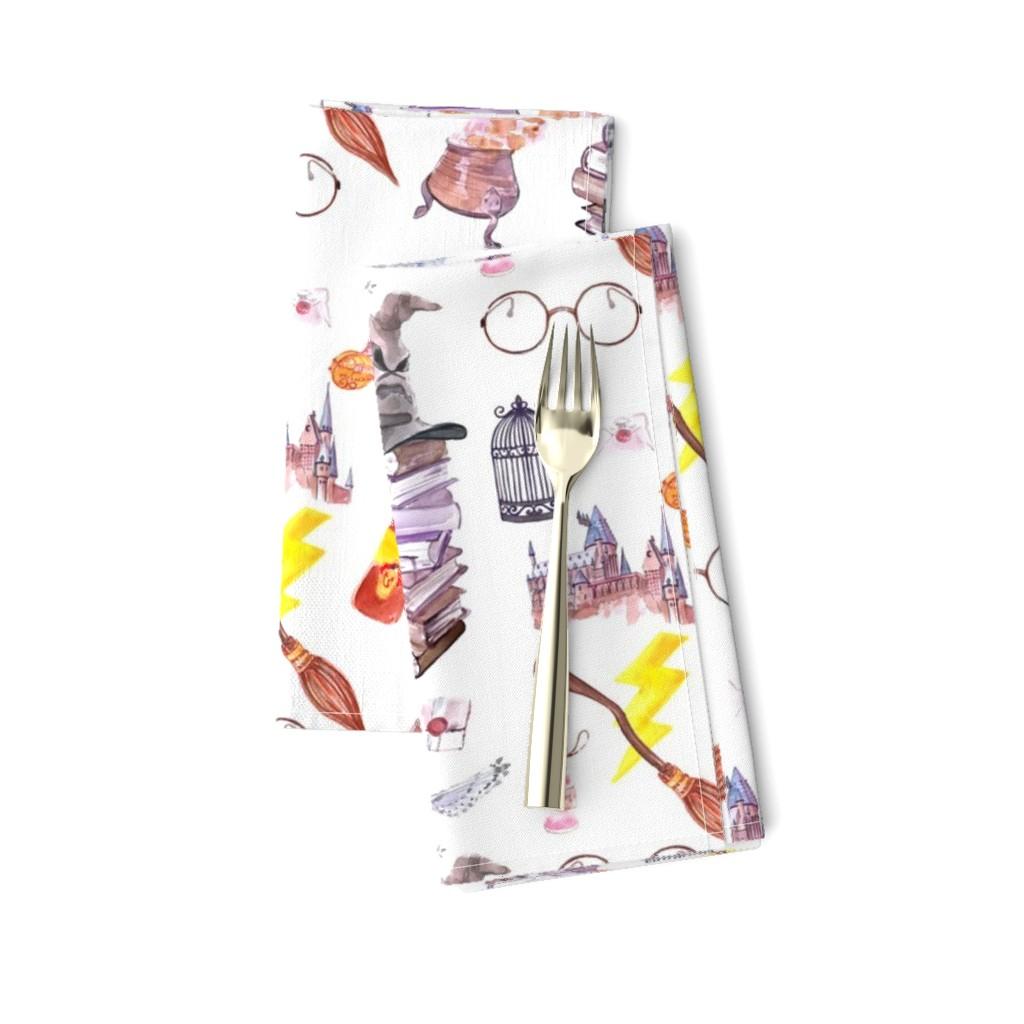 Amarela Dinner Napkins featuring Wizard Symbols // Medium Scale by hipkiddesigns