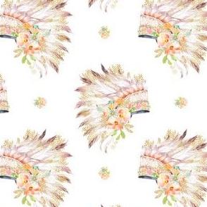 "4"" Gold Peach & Mint Headdress / Version 2"