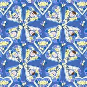 Baby Hearts Bunting Boys Fabric 3