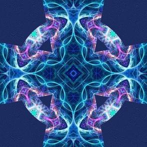 fractal blue marble celtic cross E