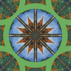 Mandala Celtic Tree Circle Tile