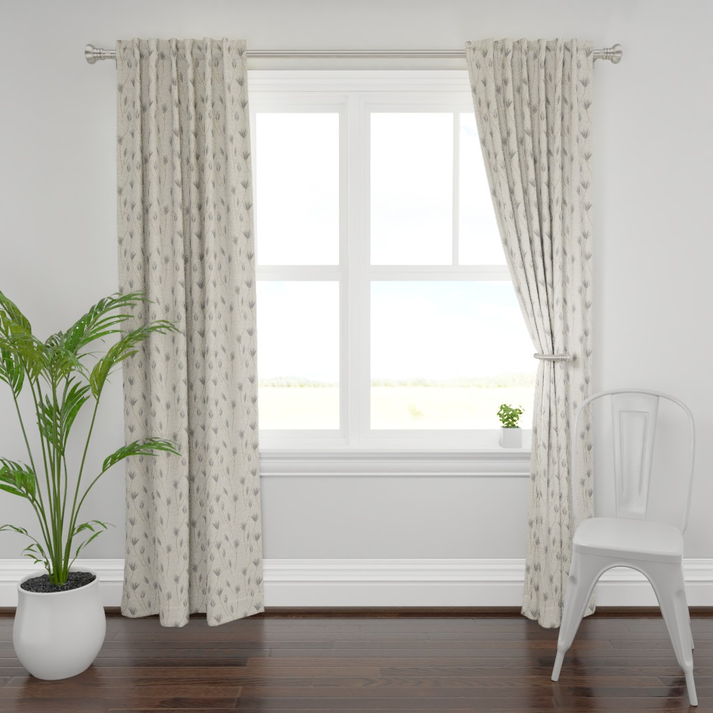 Plymouth Curtain Panel featuring EARTHEN PALM by holli_zollinger