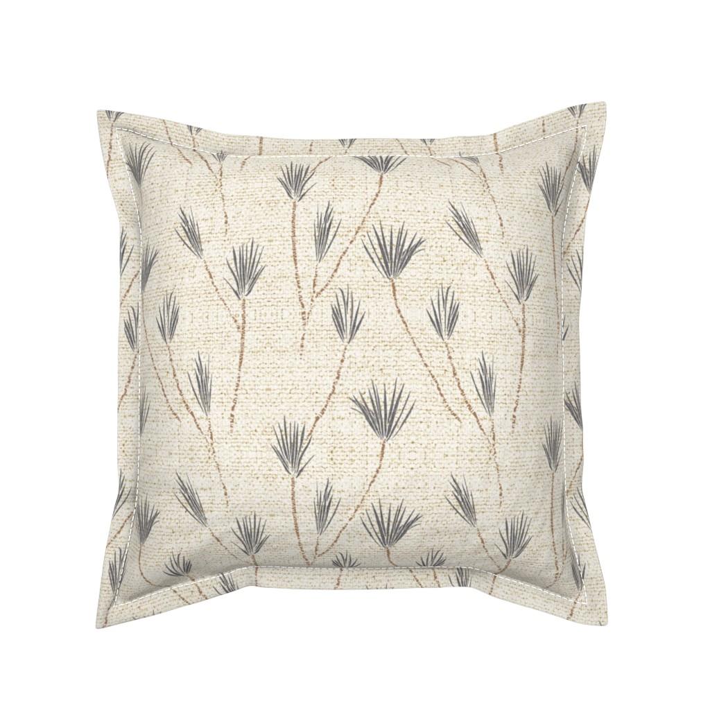 Serama Throw Pillow featuring EARTHEN PALM by holli_zollinger