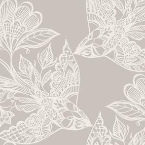 Lace Birds {Silver/Dove}