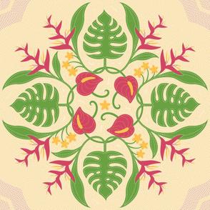 Hawaiian Quilt Circle of Flora