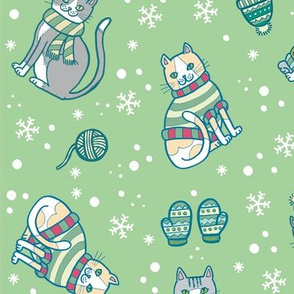 Meowrry Christmas! in Green